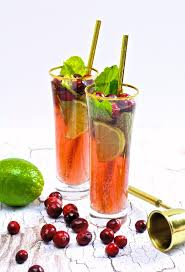 a cranberry mojito for thanksgiving brite and bubbly