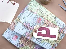 map wrapping paper roll 10 eco friendly gift wrap ideas for a lower impact on the environment