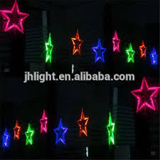 outdoor street decorative led christmas star string light home