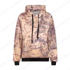The Hobbit Map The Lord Of The Rings Jumper Pullover The Hobbit Tolkien Map Long