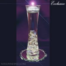Vases With Floating Candles Vase U0026 Acrylic Crystal Cpk Floating Candle Centerpiece