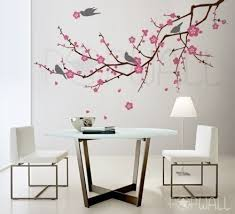 Home Decor Tree Tree Birds Flower Cherry Blossom Tree Branch Wall Decal Wall