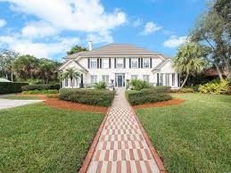 Homes With Detached Guest House For Sale 1928 Colonial Intracoastal Tropical Estate Florida Luxury Homes