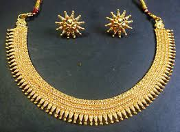 south indian surya rani haar gold plated necklace earings wedding