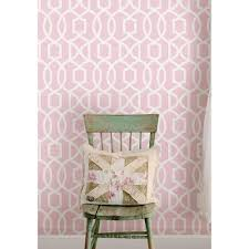 nuwallpaper pink grand trellis peel and stick wallpaper nu1420