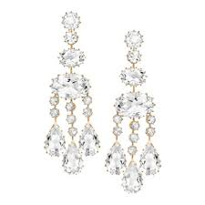 Rose Gold Chandelier Earrings Ivanka Trump Long Rock Crystal Chandelier Earrings Betteridge