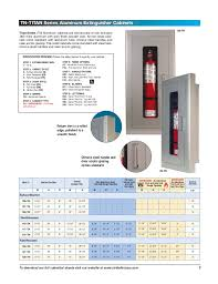 fire extinguisher and cabinets catalog