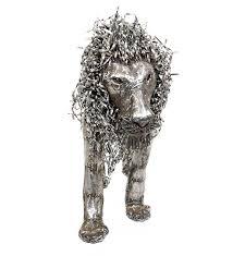 metal lion sculpture drum lion sculptures recycled garden swahili