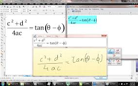 corel draw x6 has switched to viewer mode adding equations in corel draw using math input panel with math type