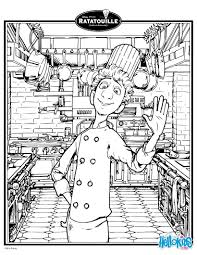ratatouille coloring pages linguini in ratatouille coloring pages