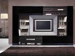 living led tv wooden cabinet wall unit designs for living room
