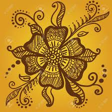abstract flower for henna mehndi tattoo royalty free cliparts