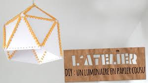 suspension origami diy tuto diy un abat jour en papier cousu studio cyanotype youtube