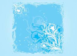 Blue Flower Backgrounds - free blue swirls spring flower backgrounds for powerpoint flower