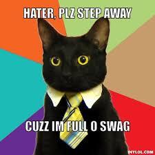 Plz Meme - image resized business cat meme generator hater plz step away