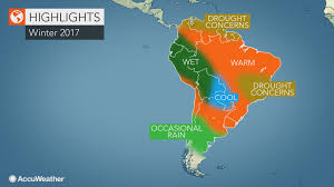 Climate Map Of South America by 2017 South America Winter Forecast Drought To Worry Colombia