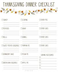 printable thanksgiving dinner checklist and recipes