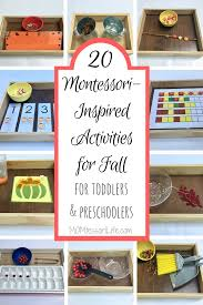 20 montessori inspired activities for fall for toddlers and