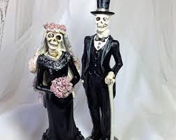 skeleton wedding cake toppers skull wedding cake toppers etsy