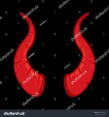 halloween scrolls background illustration red devil horns isolate on stock illustration