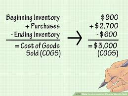 how to account for cost of goods sold with pictures wikihow