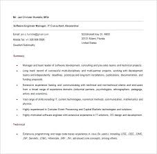 Software Developer Resumes Sample Resume For Experienced Software Engineer Free Download Free