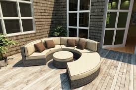 Curved Sectional Patio Furniture - malibu curved sectional sofa set 4 piece