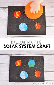 balloon stamping solar system craft for kids i heart arts n crafts