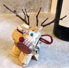 rudolph reindeer wine cork ornament in poinsettia the crafty