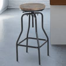 Vintage Industrial Bar Stool Industrial Bar Stools Wayfair Co Uk