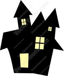 spooky clip art spooky black house cartoon clipart vector toons