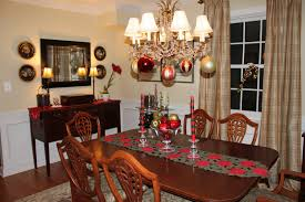 simple christmas decorating ideas for dining room table in home
