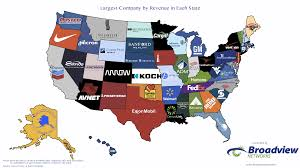 The United States In The World Map by Map The Largest Company By Revenue In Every State