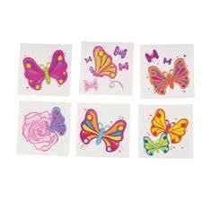 temporary butterfly tribal puka