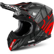 motocross helmet airoh aviator 2 2 mx motocross helmet styling matt red dbm racing