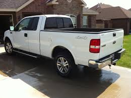 white truck bed liner 2005 white ford f 150 for sale very nice 4 4 lariat pickup