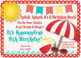 Card Party Invitation Pool Party Invitation Wording Party Invitations Templates