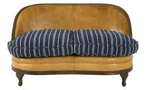 furniture vintage loveseat mini loveseat blue suede sofa