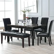 black dining room chairs amazon 131 5pc black counter height