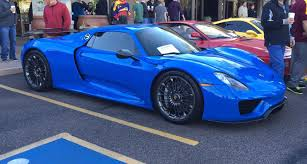 voodoo blue porsche porsche 918 spyder supercar at cars u0026 coffee scottsdale youtube