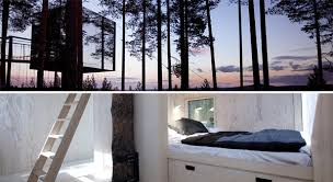 tree hotel sweden harads hanging treehotel