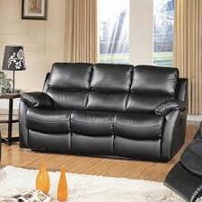 Contemporary Reclining Sofa With Topstitch by Italian Top Grain Leather Sofa Wayfair