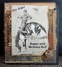 scraps from a broad cowboy birthday card debbie u0027s corner