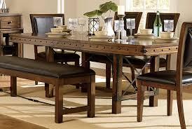 homelegance urbana trestle dining table burnished brown 5179 90