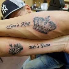 tattoo of queen and king 165 top king and queen tattoos for couples 2018 page 2 of 5