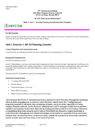 nt1330 week 7 unit 7 exercise 7 active directory system software