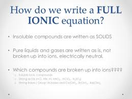 net ionic equations ppt video online download