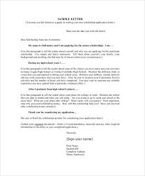 Writing an Application Letter for Scholarship  with Sample     Inspirenow Cover Letter Scholarship Application Example Application Letter