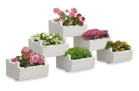 concrete planter rectangular contemporary for public areas