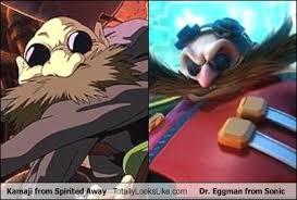 Eggman Meme - kamaji from spirited away totally looks like dr eggman from sonic
